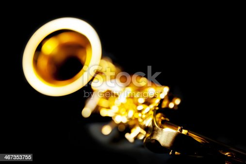 abstract perspective of a alto saxophone