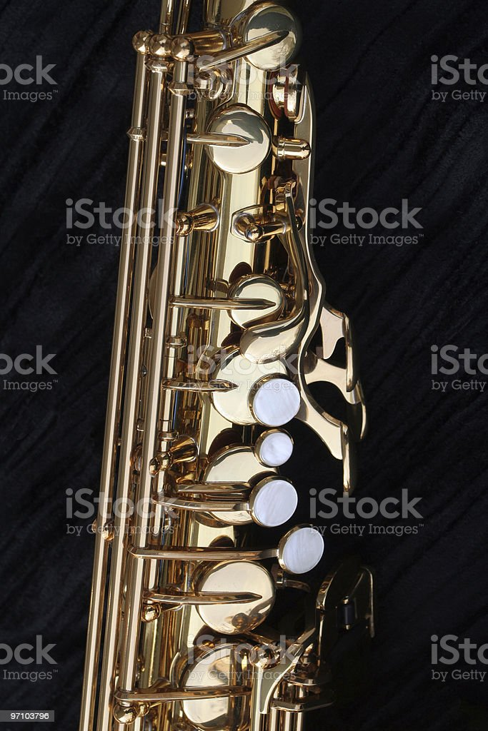 Alto Sax Pearl Keys stock photo