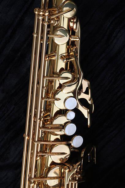 alto sax pearl schlüssel - altsaxophon stock-fotos und bilder