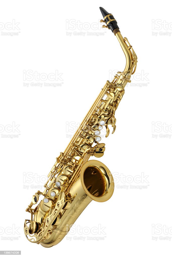Alto saxophone b stock photo