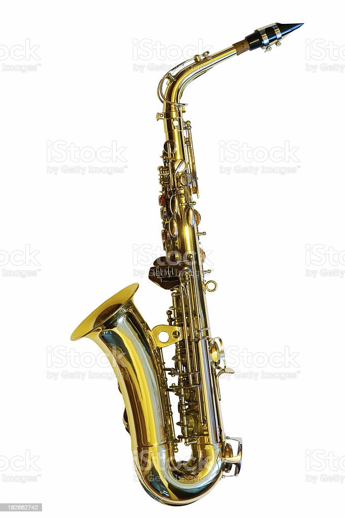 Alto Saxophone (Path included) stock photo