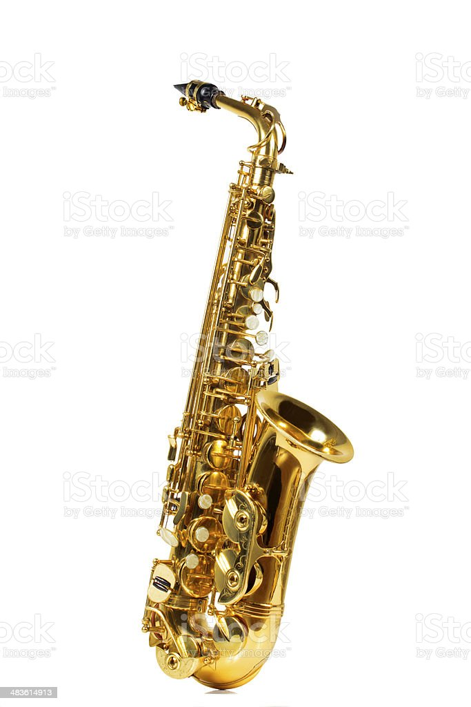 Alto Saxophone stock photo