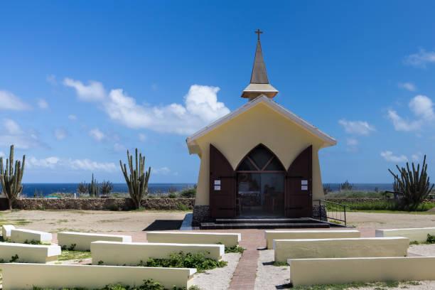 Alto Vista Church, Aruba stock photo