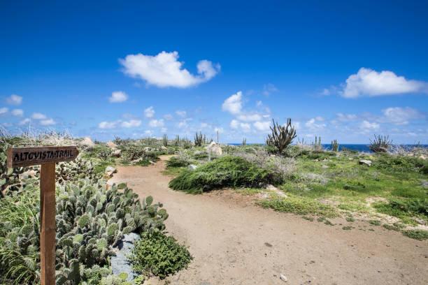 Alto Vista Trail, Aruba stock photo