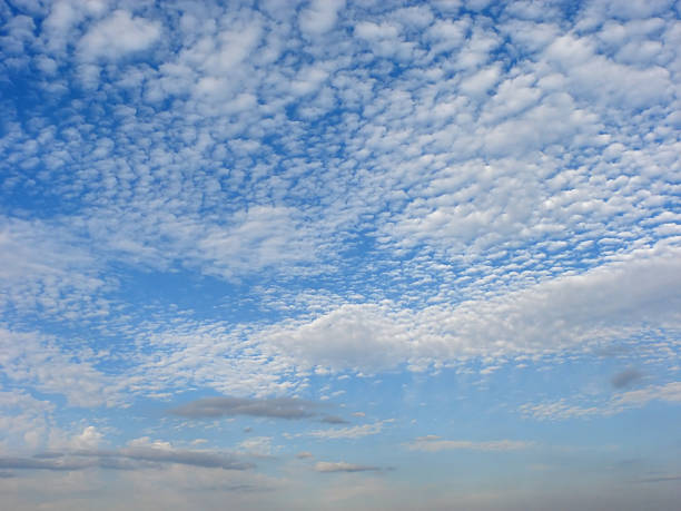 altocumulus cloud layer stock photo