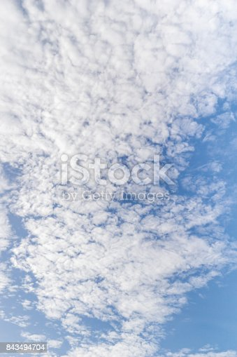 istock Alto-cumulus clouds and blue sky 843494704