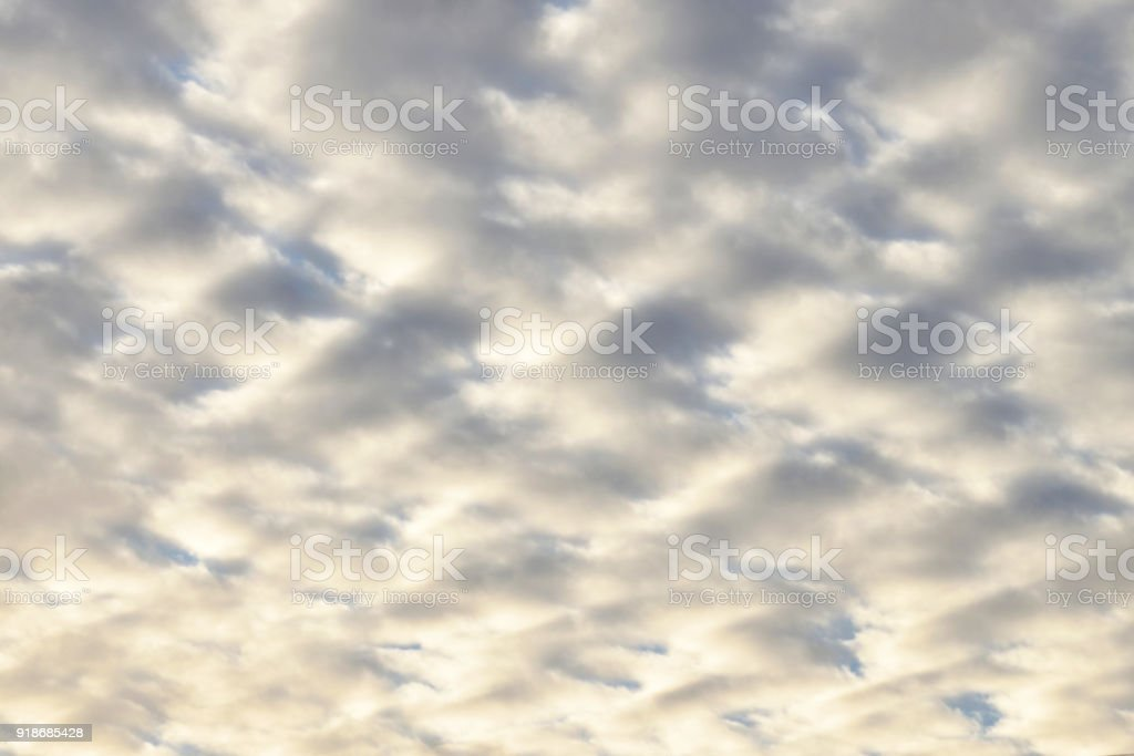 Altocumulus Clouds Blurred Abstract stock photo