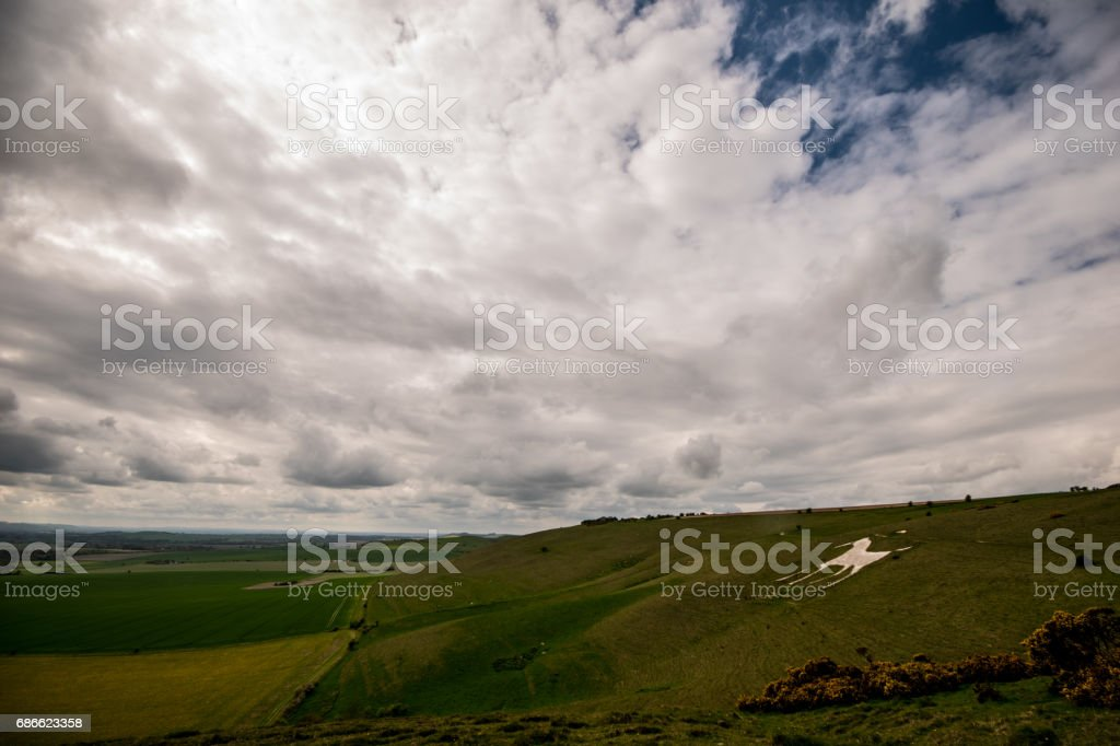 Alton Barnes White Horse Wiltshire UK England royalty-free stock photo