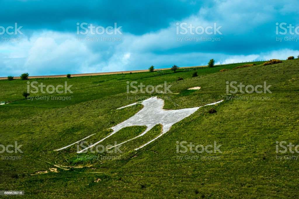 Alton Barnes White Horse Wiltshire UK England royalty-free stock photo