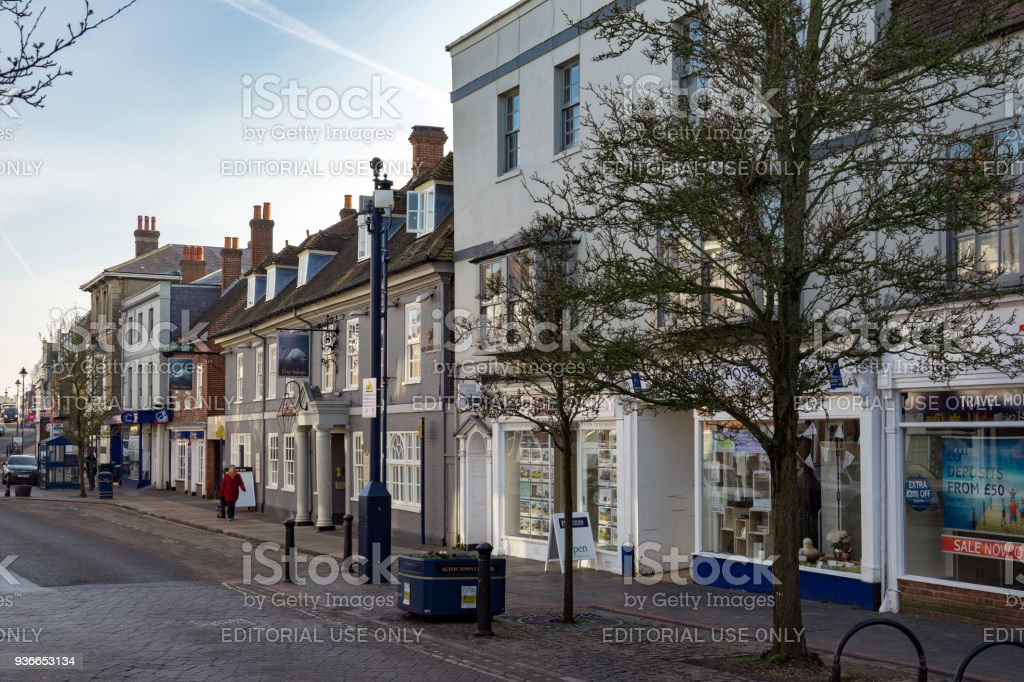 Alton High Street stock photo
