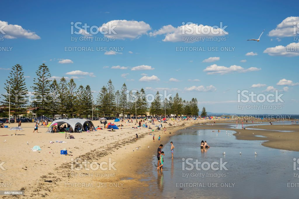 Altona Beach, Melbourne, in summer stock photo