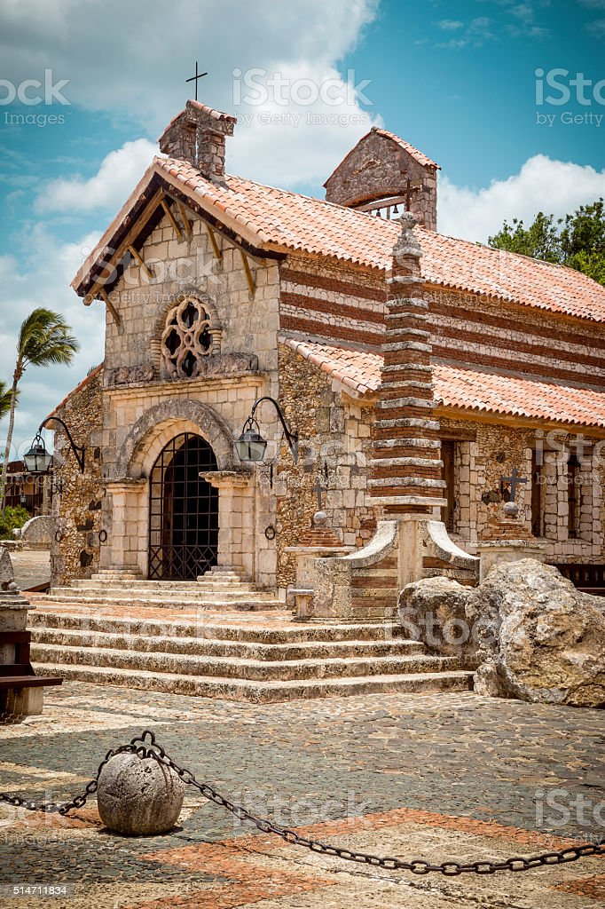 Altos de Chavon village, La Romana in Dominican Republic stock photo