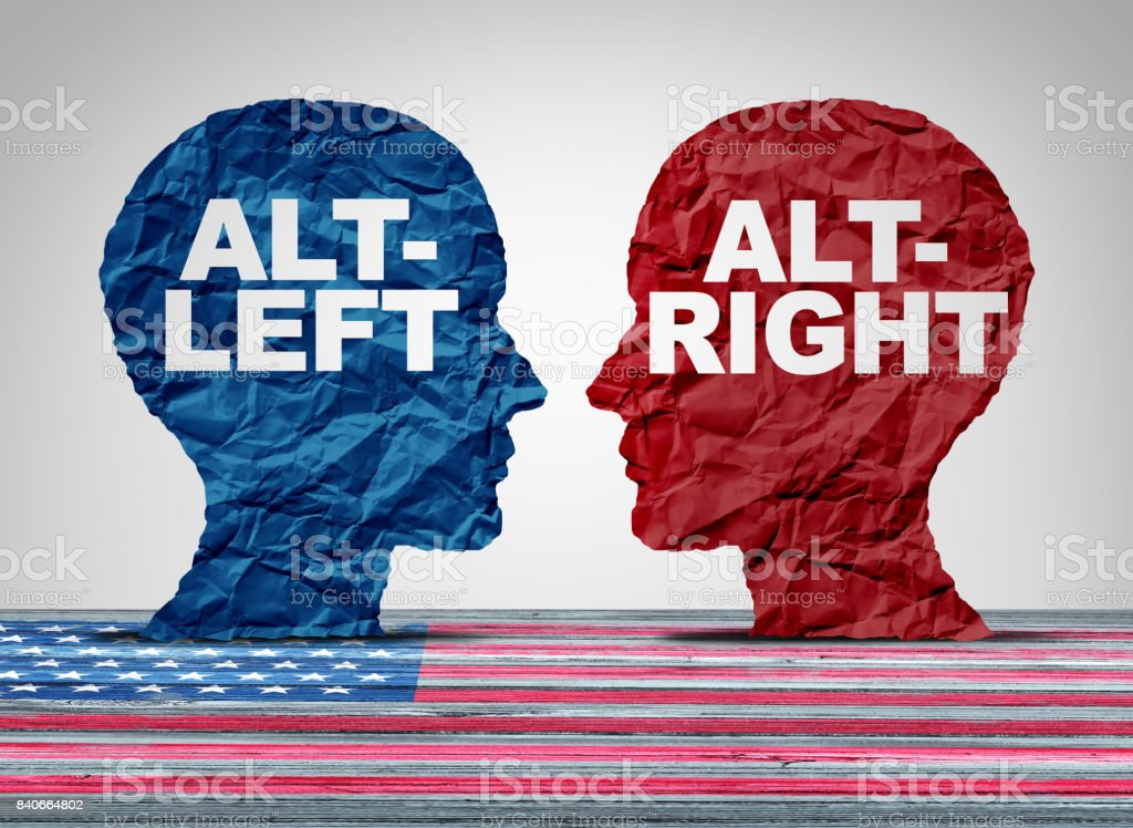 Alt-Right And Altleft stock photo