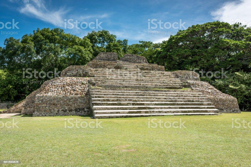 Altun Ha Belize Mayan Tomb A stock photo