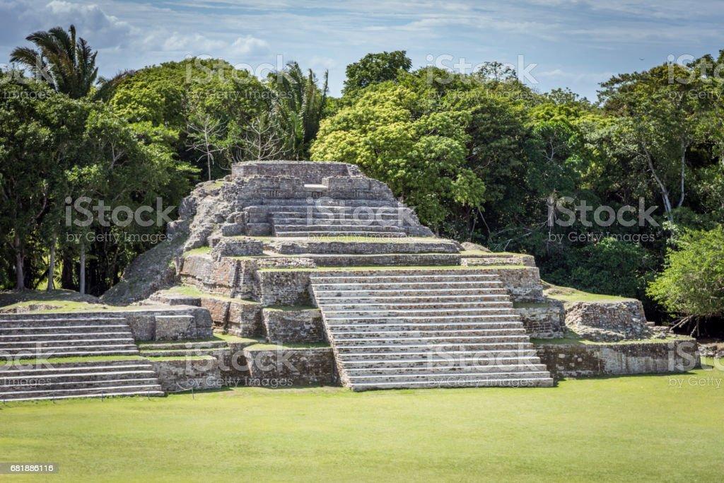 Altun Ha Belize Mayan Tomb stock photo