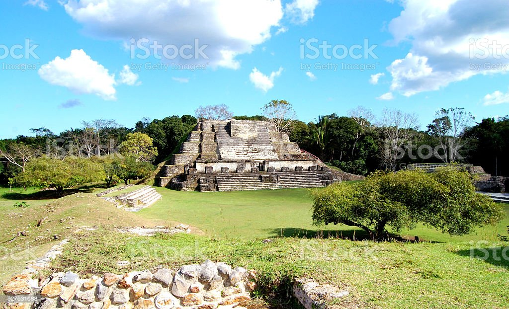 Altun HA Mayan Temple in Belize stock photo