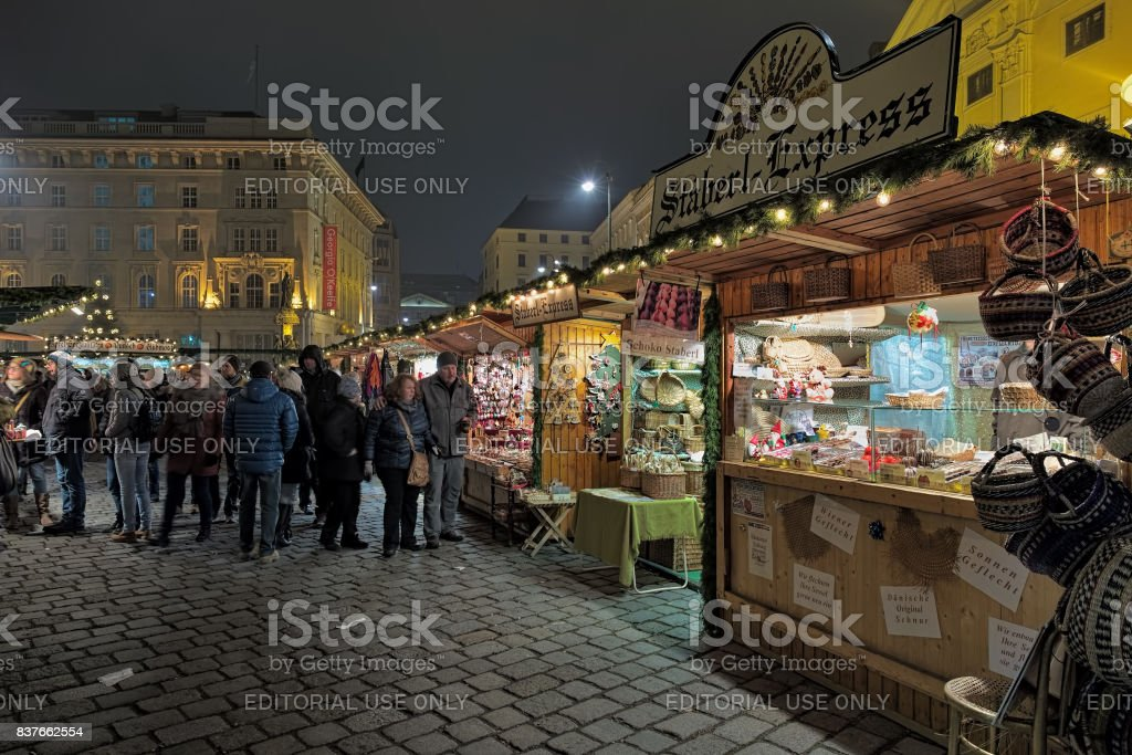 Altwiener Christmas Market in Vienna, Austria stock photo