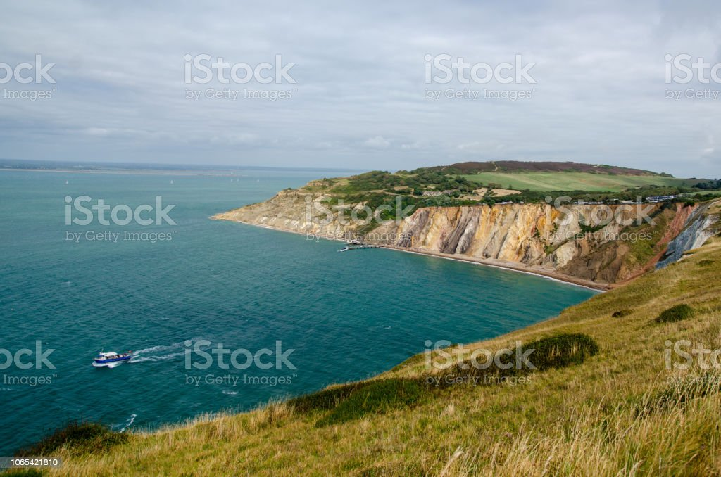 Alum Bay stock photo