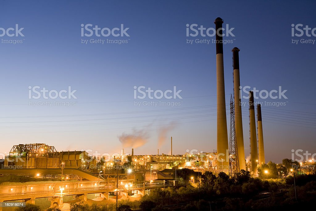 Alumina Refinery royalty-free stock photo