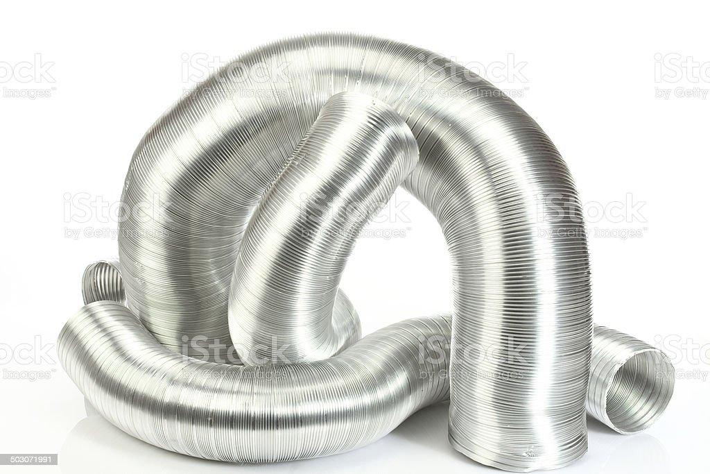 aluminium air tubes stock photo