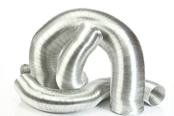 aluminium air tubes stock photo