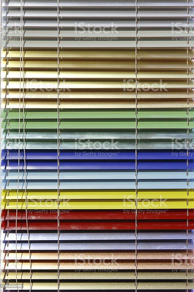 Aluminium blinds royalty-free stock photo