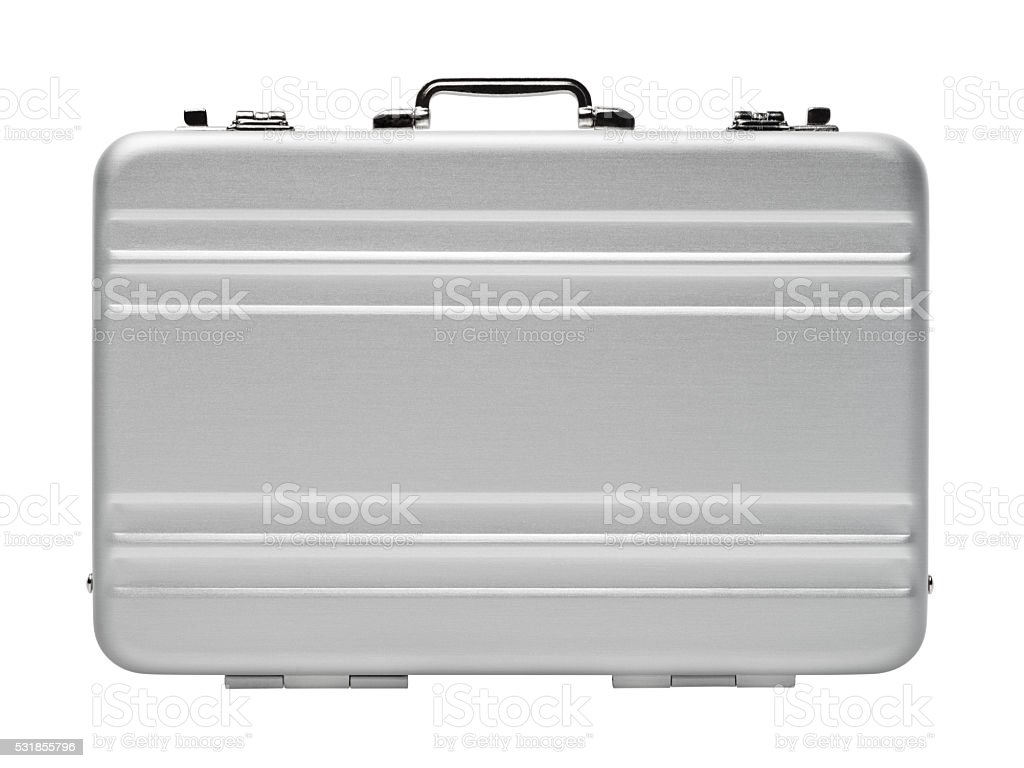 Aluminium briefcase royalty-free stock photo