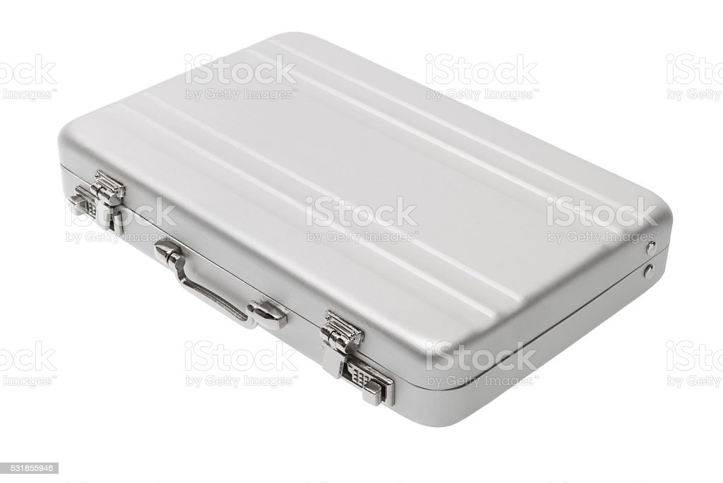 Aluminium briefcase royalty-free stock photo