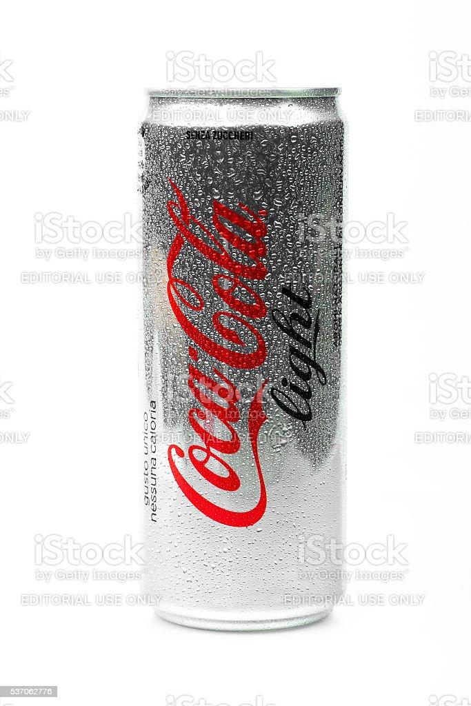 Aluminium can of Coca-Cola Light stock photo