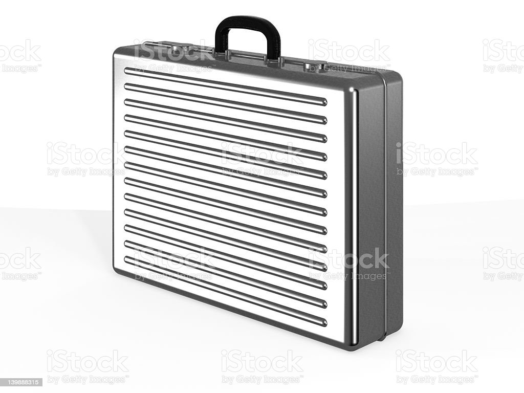 Aluminium Case royalty-free stock photo