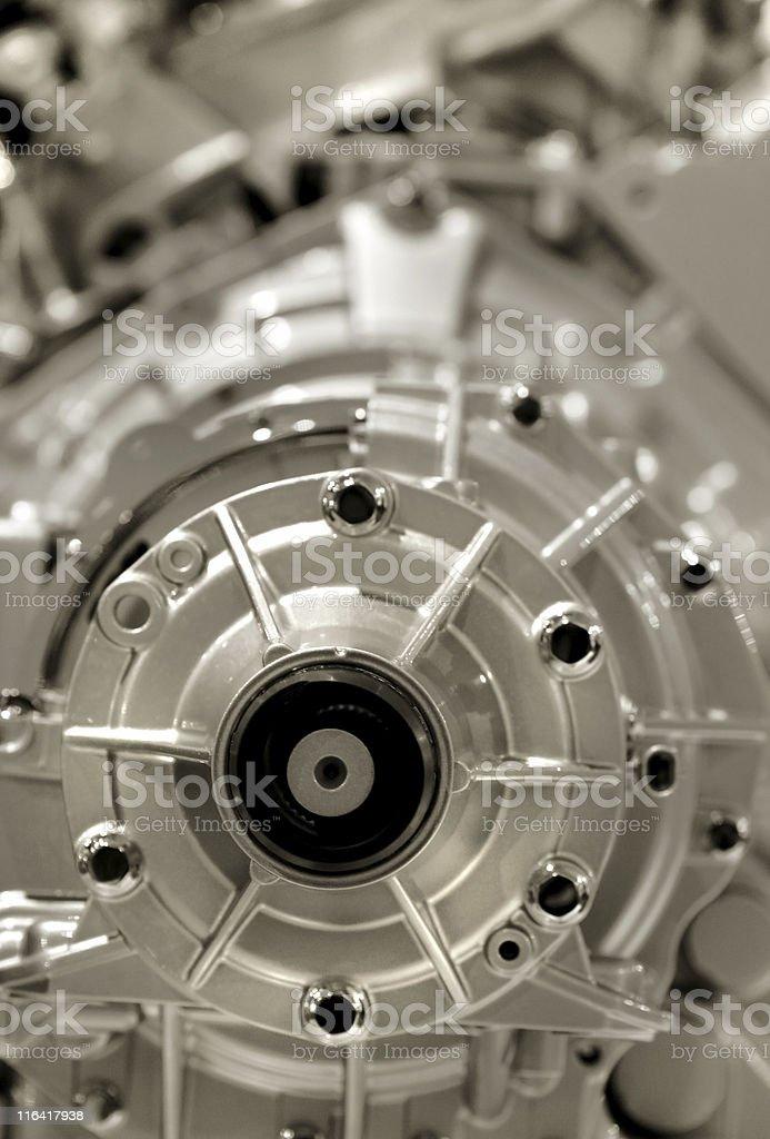 Aluminium Engine stock photo
