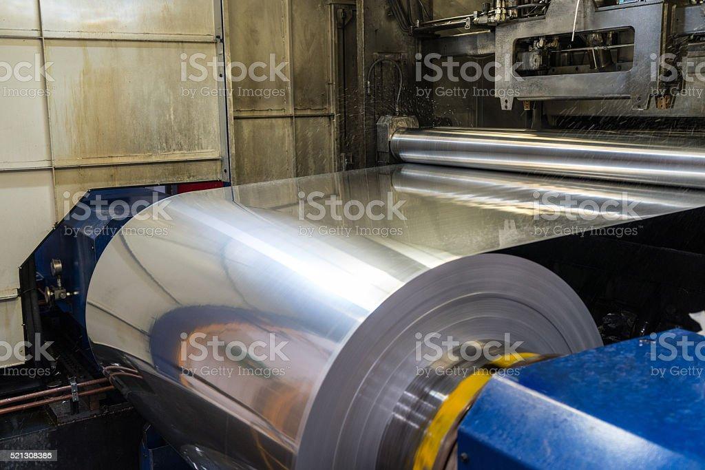 Aluminium factory stock photo