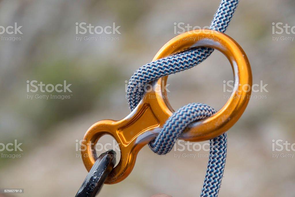 Aluminium Abbildung achten mit Seil Lizenzfreies stock-foto