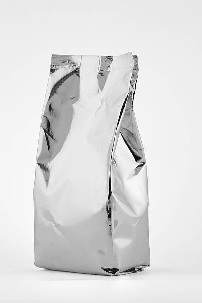 Aluminium foil bag stock photo