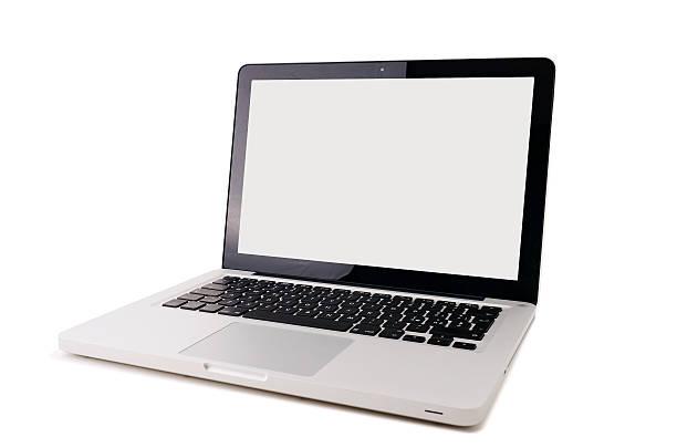 Aluminium laptop Isoliert – Foto