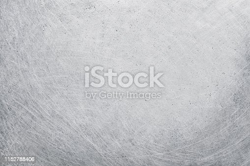 istock aluminium metal texture background, scratches on polished stainless steel. 1152788406