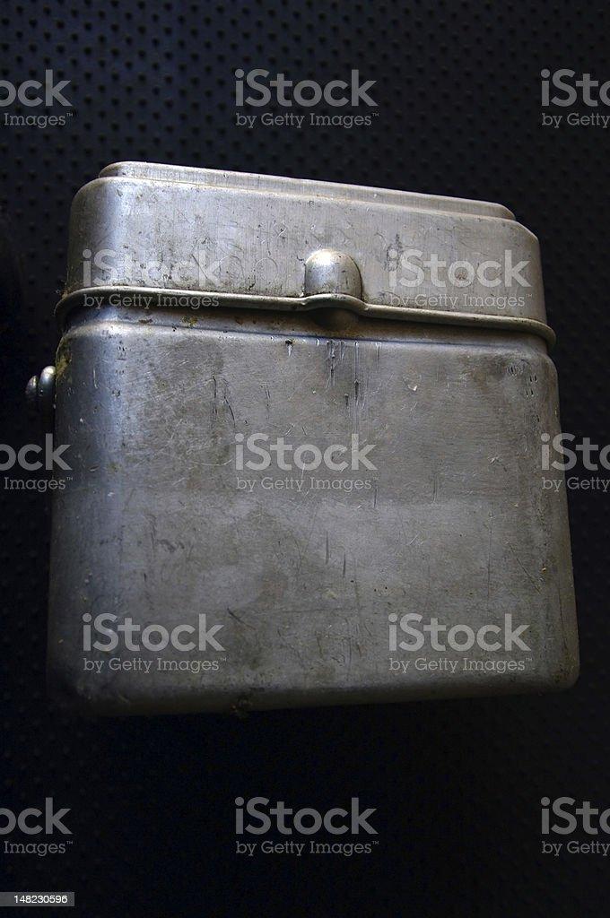 aluminium  military ration box stock photo