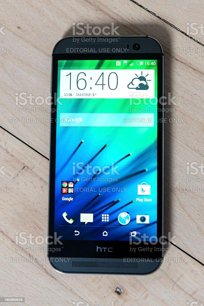 Aluminium phone that runs Android stock photo
