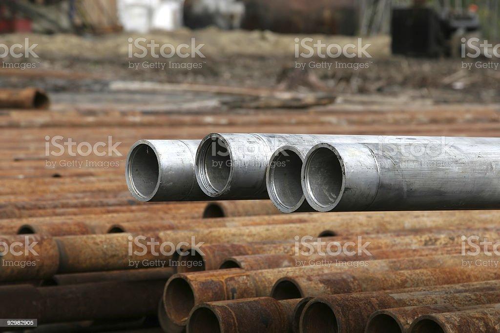 Aluminium pipes royalty-free stock photo