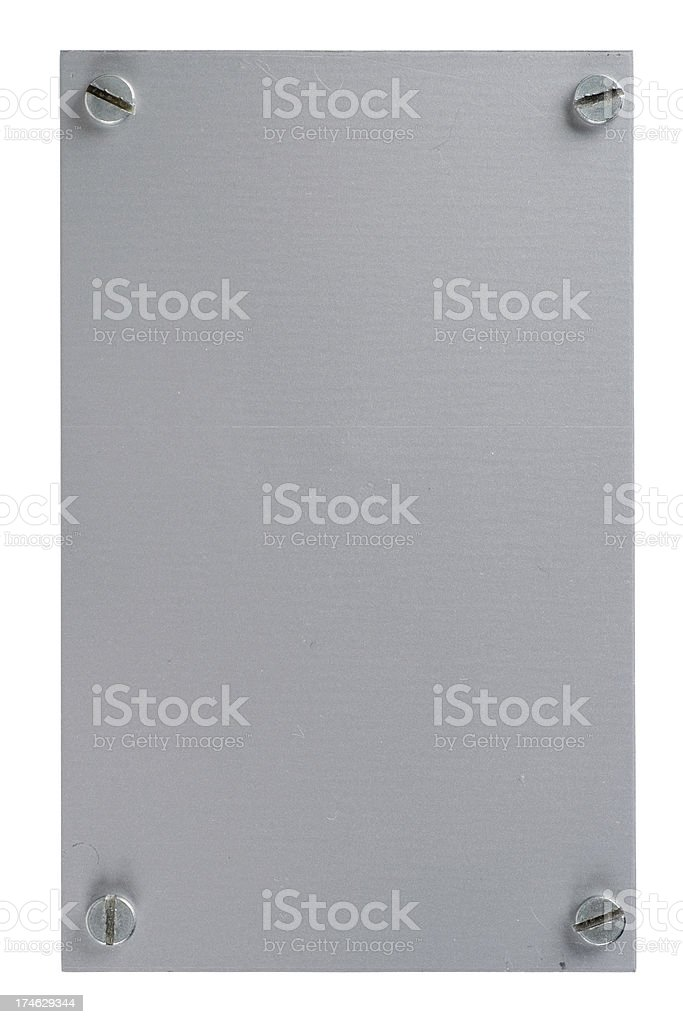 Aluminium plate royalty-free stock photo