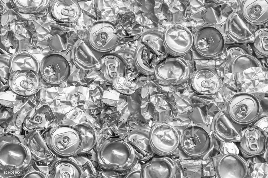 Aluminium recycling is scrap aluminium can be reused in products, abstract wallpaper, Recycle reuse and reduce concept save the earth, Industry background. stock photo