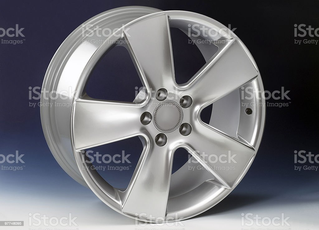 aluminium rim royalty-free stock photo