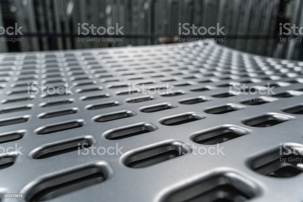 Aluminium sheet metal stock photo