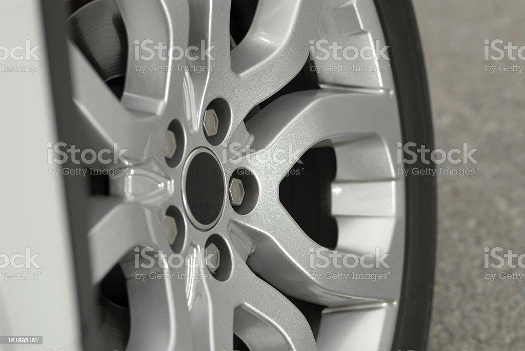 aluminium sport wheel detail royalty-free stock photo