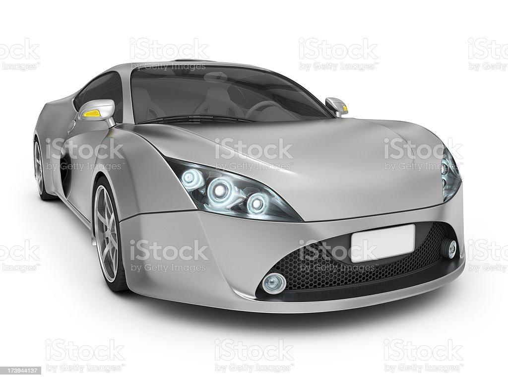 aluminium supercar royalty-free stock photo