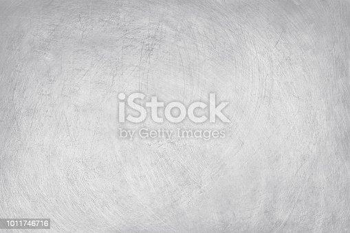 istock aluminium texture background, scratches on stainless steel. 1011746716