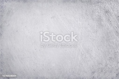 istock aluminium texture background, scratches on stainless steel. 1076509054