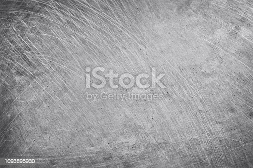 istock aluminium texture background, scratches on stainless steel. 1093895930