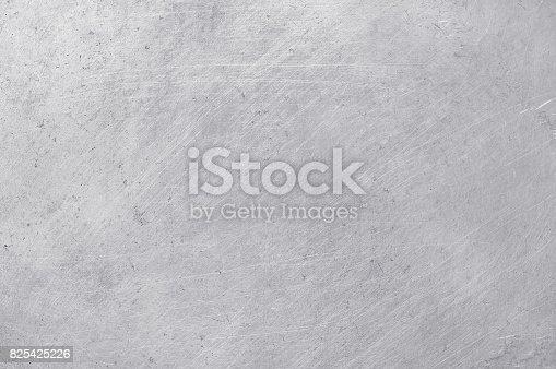 istock aluminium texture background, scratches on stainless steel. 825425226