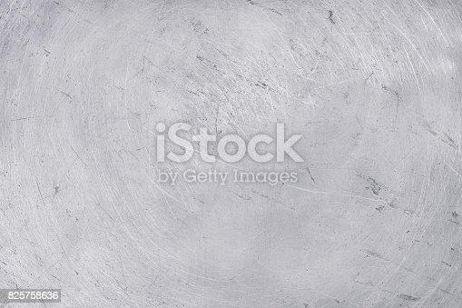istock aluminium texture background, scratches on stainless steel. 825758636